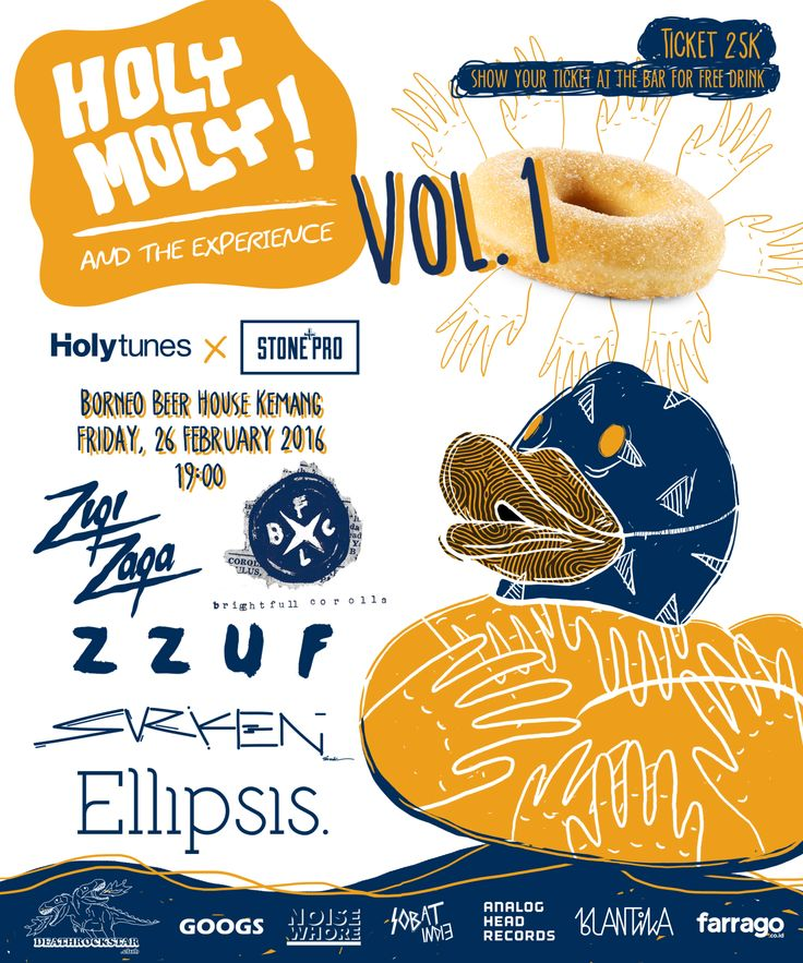 Music gig's poster for Holytunes X StonePro #eargasm #goodmusic #musicposter #gigsposter #holytunes #stonepro #musiclabel #musicrecords