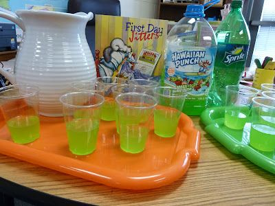 Fun first day of school with some Jitter Juice !   Second-Grade-Fun.blogspot.com