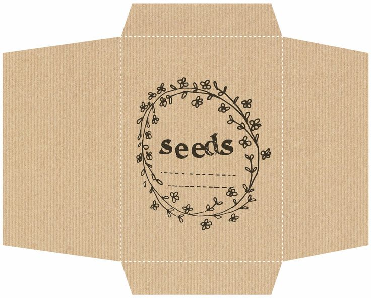 seed packet template, you know, for when I actually start saving my own seeds.