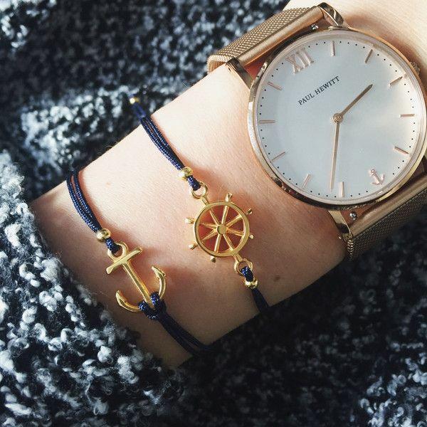 "Armbänder - Armband Set ""Maritim"" - ein Designerstück von bracelens bei DaWanda  #armband #armbänder #maritim #anker #steuerrad #dawanda #fashion #handgemacht #handmade #uhr #paulhewitt"