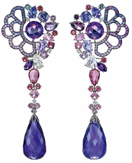 Earrings inspired by Belle from Beauty and the Beast.  From Disney and Chopard