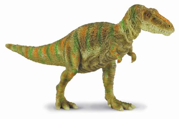 """Tarbosaurus - El Tarbosaurio era un dinosaurio carnívoro con un cráneo enorme de hasta 113 cm de largo. Su nombre significa """"Reptil Alarmante"""".  Alto: 8 cm Largo: 16 cm Figuras de gran calidad y detalle, parecen de verdad!  Edad: a partir de 3 años Marca: Collecta Ref. 30207 Precio: 7.00 € IVA incluido"""