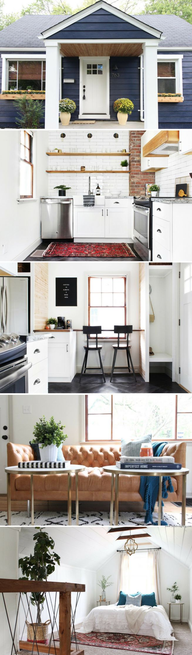 Interior design ideas for very small homes - The Chesterfield Cottage Sq Ft Super Cute Love The Exterior Color And The Layout Is Fantastic Omg I Want A Tiny House So Much