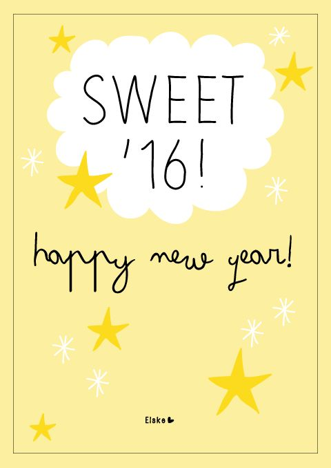 Sweet '16 - Happy New Year 2016 | www.elskeleenstra.nl