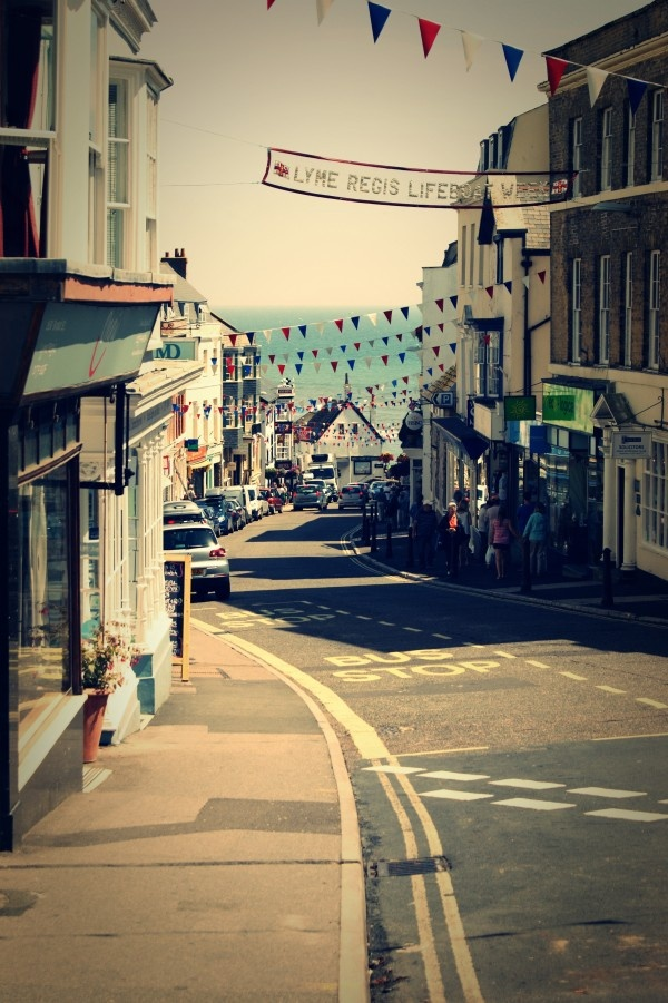 Look towards the sea flags brighten up Lyme Regis town during Lifeboat Week Love Dorset » Holiday Memories Archives » Love Dorset
