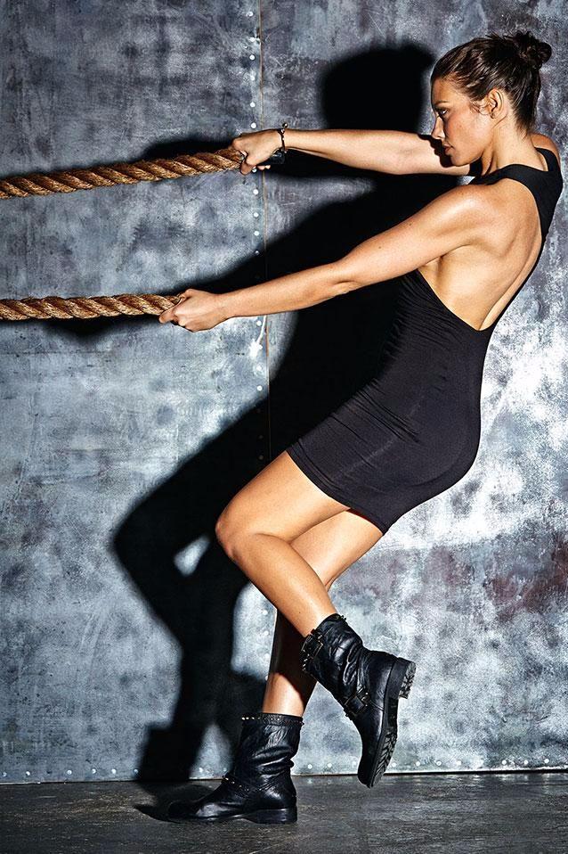 Lauren Cohan calls herself the queen of exercise variety. Get it, girl.