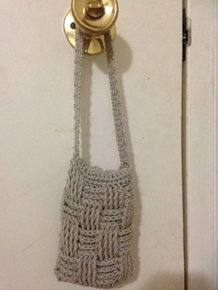 The other side of the little bamboo basket weave bag