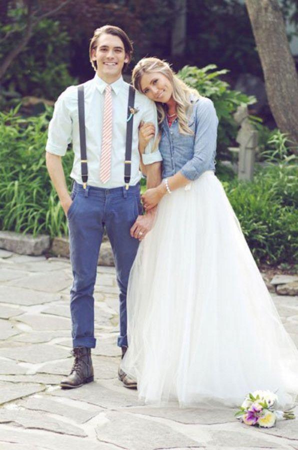 We Love 90s Wedding Details Denim Dressesbride