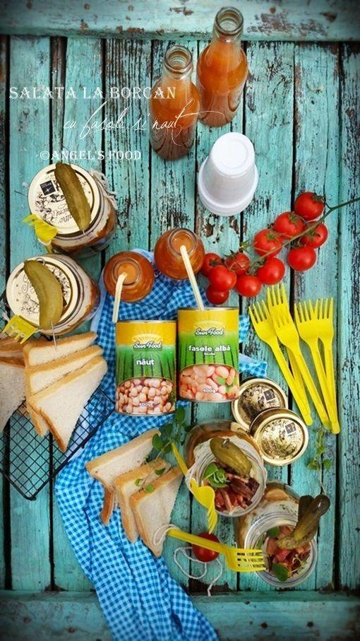 Angel's food: Salata la borcan cu fasole si naut