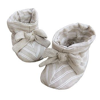 Almond Biscuit Baby Booties *RRP £25*