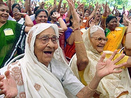 AMAZING! There are over 7,000 Laughing Clubs in India.  Some meet every morning to spend at least 20 minutes laughing and/or doing simple exercises.  The benefits of laughing are scientifically proven - more info:  http://laughingclub.in/