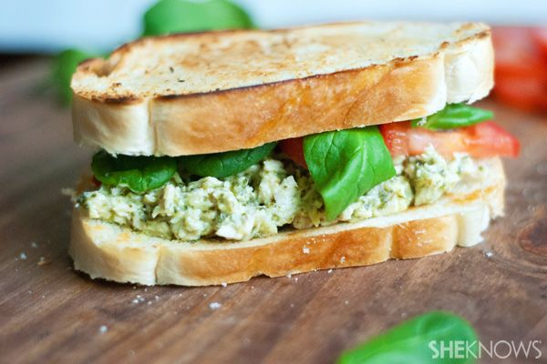 Rotisserie Pesto Chicken Salad Sandwich. Pair with your favorite soup ...