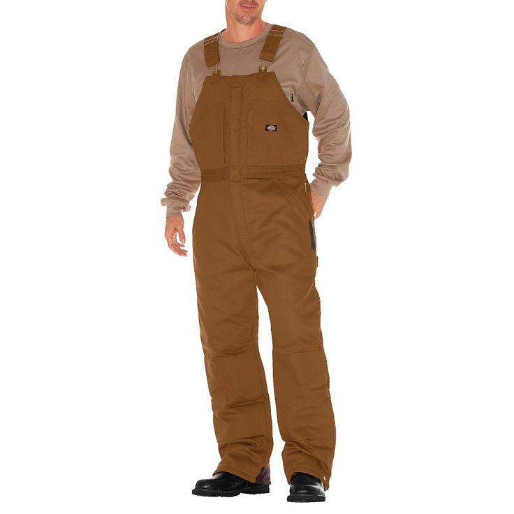 Dickies Men's Canvas Insulated Bib Overall- Brown Duck XX-Large, Size: Xxl