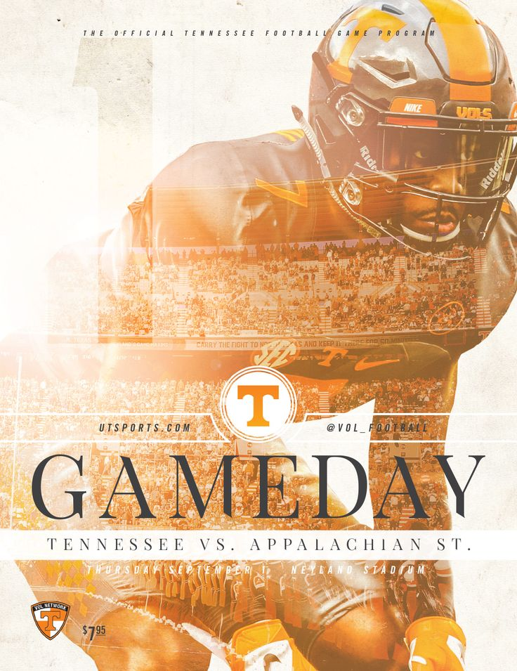 Gameday: The official @UTSports Football game program vs. Appalachian State on Thursday, September 1 at Neyland Stadium. #GoVols