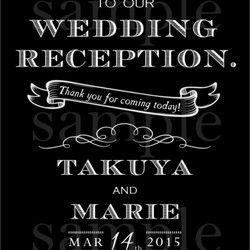 【セミオーダー】wedding ♡ welcome board《M》