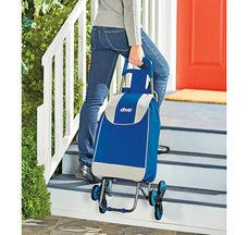 Deluxe Rolling Shopping Cart with Seat - F1496