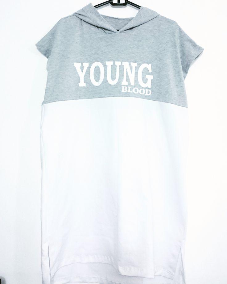 Pide tu prenda YOUNG BLOOD , el color blanco es perfecto para este verano .