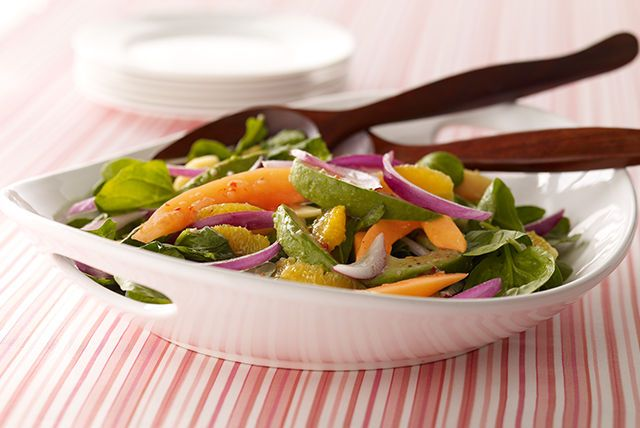 Put an exotic spin on your next Healthy Living spinach salad. Just add sliced papayas, avocados and nectarines.