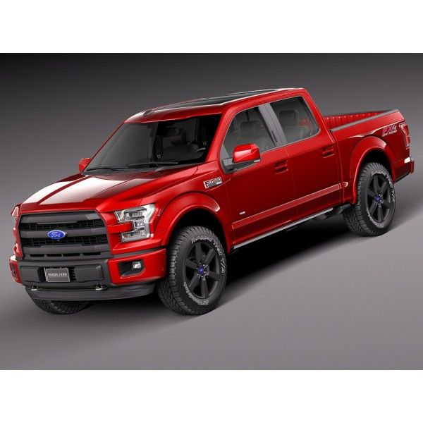 Ford F150 Lariat CrewCab 2015 - 3D Model Maybe not red...but a new truck to haul…