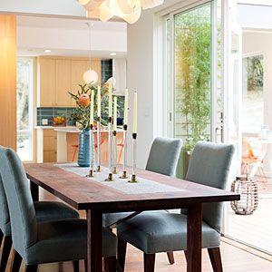 Our Breezehouse prefab in Healdsburg, CA | Dining room | Sunset.com Prefab~ulous dining area. I want a prefab house...sooo cool!