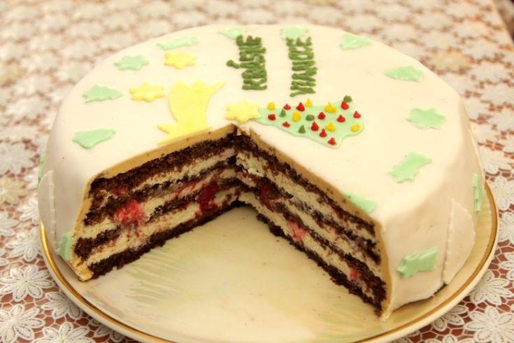 Vianočná tvarohovo-vanilková torta