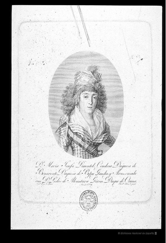 [Retrato María Josefa Alonso-Pimentel y Téllez de Girón, condesa duquesa de Benavente]. Selma, Fernando (1752-1810) — Grabado — 1794
