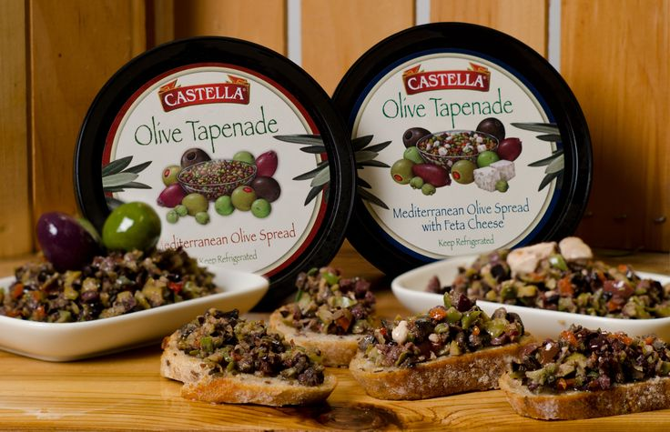 #12DaysOfHolidayHosting Day 1: OLIVE TAPENADE & OLIVE TAPENADE WITH FETA - Castella's Olive Tapenade is a mouth-watering spread made from our world famous black and green olives, capers and a special blend of spices. Also, try it with creamy bits of Castella's Feta Cheese. It is already made, you just have to serve it with some toast crackers - your guests will love it and you can relax! Look for it in a store near you