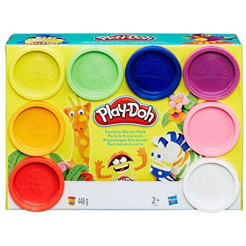 Hasbro Play-Doh a7923eu6–Arc-en-ciel, Lot de 8: Parfaite comme kit de démarrage convient Avec 8pots Play Doh Pâte á 56g En couleurs…