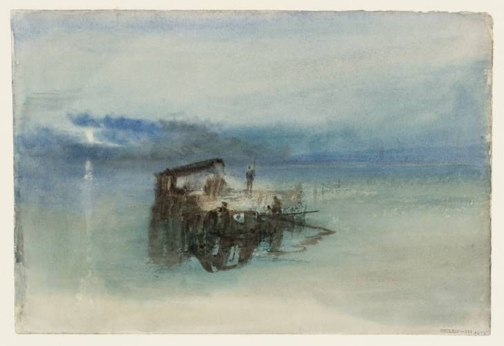 The EY Exhibition: Late Turner – Painting Set Free Tate Britain: Exhibition 10 September 2014 – 25 January 2015 Joseph Mallord William Turner Fishermen on the Lagoon, Moonlight 1840 Watercolour on paper support: 192 x 280 mm