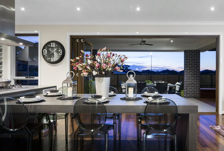 Do you like the look of this #diningspace from Kurmond Homes, Glenleigh 39 design?  View the rest of this #homedesign at discoverhomeworld.com.au