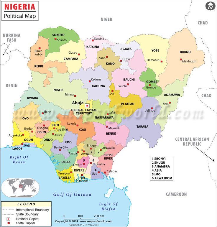 Political Map of Nigeria