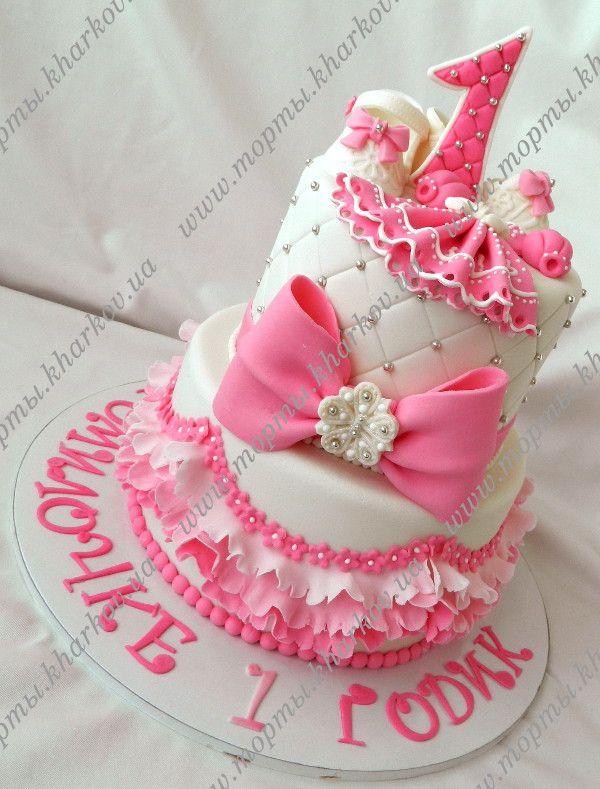 Торт на годик для двойняшек