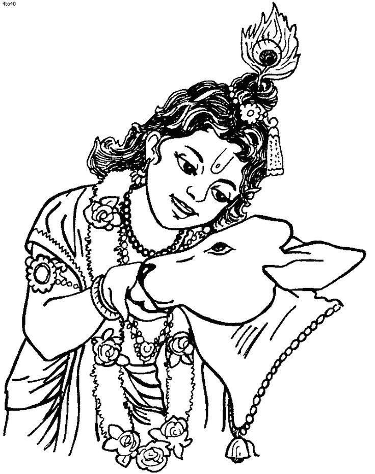 pancha coloring page janmashtami puja coloring page pancha coloring book