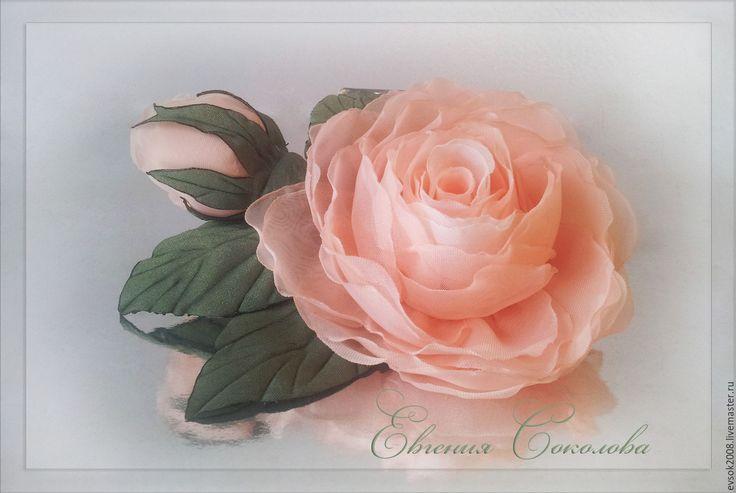 Купить Брошь Абрикосовые розы - свадебные аксессуары, свадебное украшение, свадебные украшения, украшение для волос