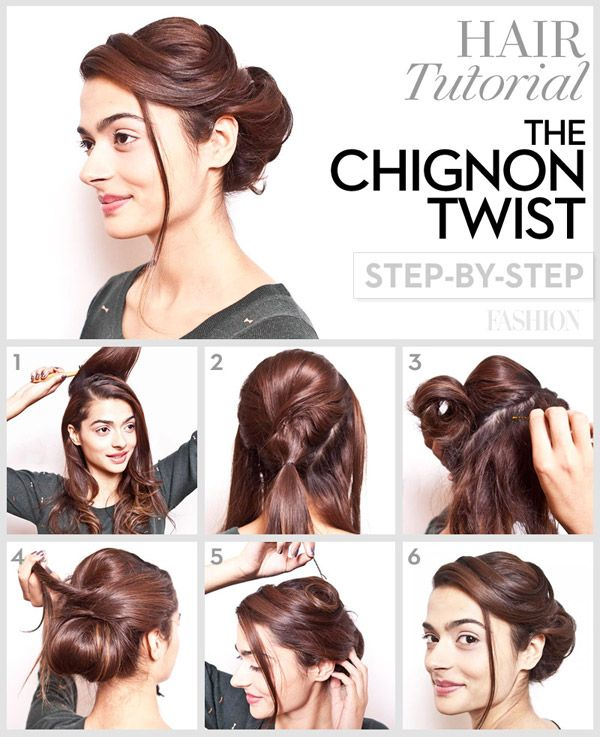 hairstyle tutorial step by step bun