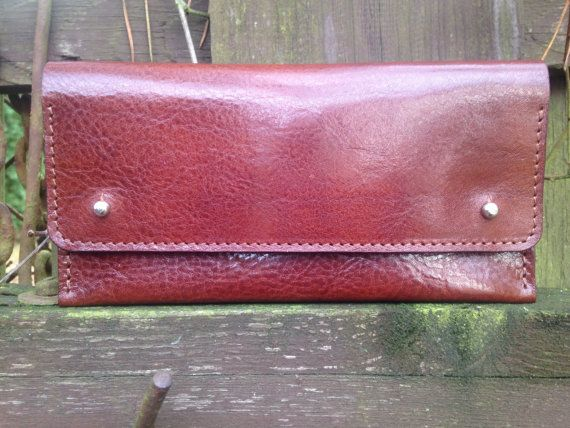 Leather Clutch  Cognac Brown  Clutch Bag Leather by toshibags