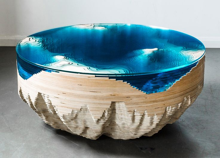 Best Epoxy Resin Art Images On Pinterest Resin Art Resin - Incredible layered glass table mimics oceans depths