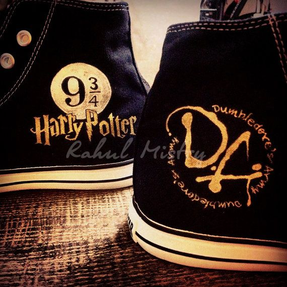 Harry Potter Handpainted Converse Shoes. by RahulMistry on Etsy, $99.00