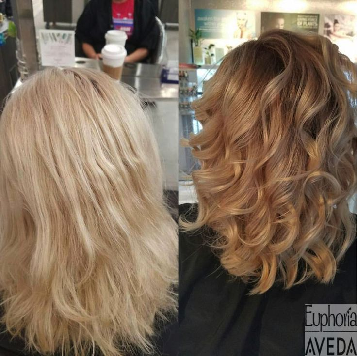 This color melt, done by Becca, is absolutely gorgeous! #AvedaColor