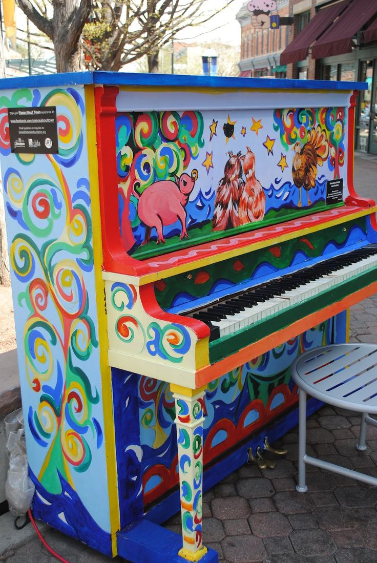 Painted pianos. Fort Collins, Colorado. I have a picture of myself playing this piano.            multi city world travel dot com