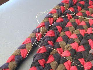 Braided mat, old shirts
