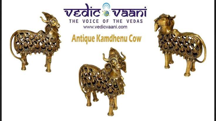 Kamadhenu Cow Idol Online, Kamdhenu Statues For Sale - Vedicvaani.com, Buy cow idols, Nadi in brass, Cow murti, Hindu deity idols for sale at best price from india in USA.