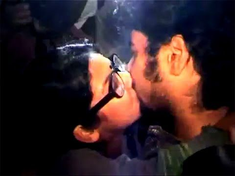 'Kiss of Love' 1st time open kiss protest on the street of kolkata