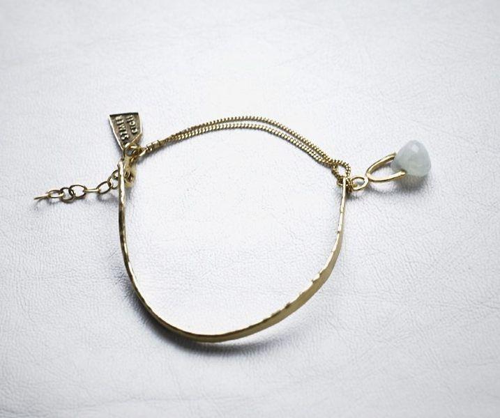 BLUE JADE BRACELET GOLD BY SZMER-CRAFT w SZMER-craft na DaWanda.com