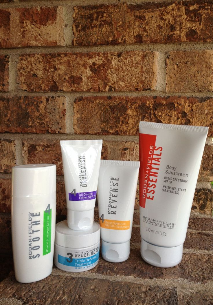 Rodan + Fields skin care regimens come with sunscreen!
