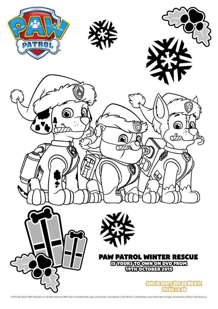 Paw Patrol Ausmalbilder Winter Rescue Patrulha Canina Desenho Desenhos Para Colorir Menino Patrulha Canina
