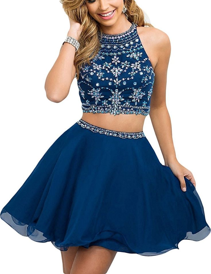 Fanciest Women's Beaded Two Pieces Prom Dresses Short Cocktail Homecoming Dress: Amazon.ca: Clothing & Accessories