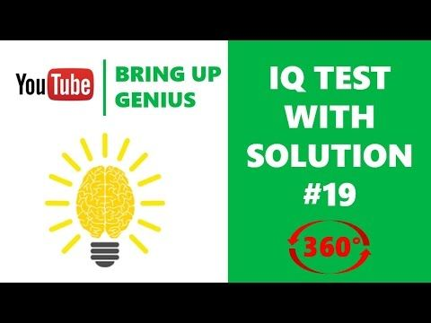 Next question | IQ test | IQ question with answer 19 | vr 360 video - YouTube