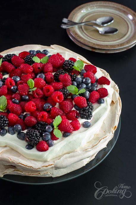 This berry pavlova looks amazing definitely trying it !