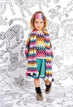 missoni girls clothes fall winter 2013 multi color sweater dress. click here to learn more http://www.dashinfashion.com/news/missoni-kids-fall-winter-2013-collection.html